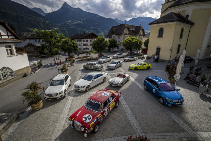 """Lucky 7"" – seventh Silvretta E-Car Rally: Living Electric – Mercedes-Benz lines up for the seventh time, with the biggest fleet"