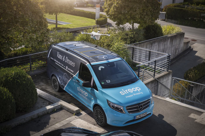 Vans & Drones in Zurich: Mercedes-Benz Vans, Matternet and siroop start pilot project for on-demand delivery of e-commerce goods