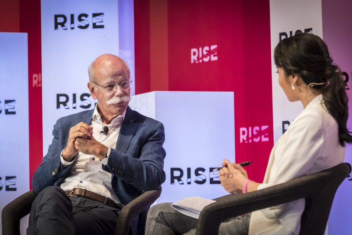 Dieter Zetsche at the RISE conference in Hong Kong:  On artificial intelligence, autonomous driving and intercultural differences in customer wishes