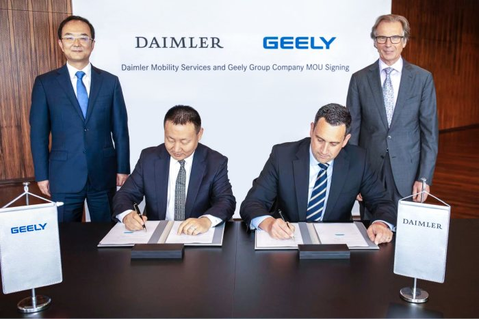 Daimler Mobility Services and Geely Group Company form premium ride-hailing joint venture in China