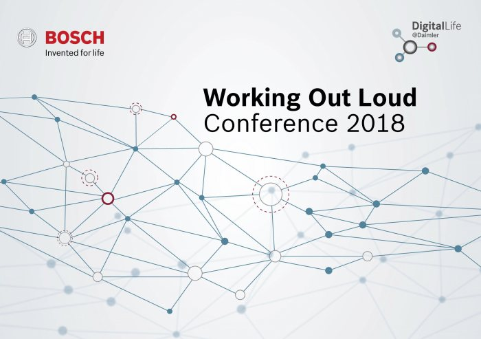 DigitalLife@Daimler: transformation of the working world: Daimler and Bosch hold the first inter-company 'Working Out Loud' conference