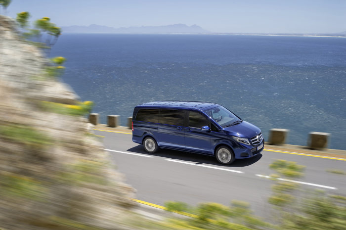 Mercedes-Benz MPV presented in India: The V-Class wins over a new market: debut in India