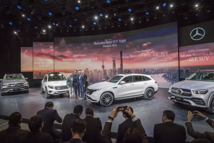 Mercedes-Benz Cars on the eve of Auto Shanghai 2019 : SUVs – from electric drive to aerodynamic champion