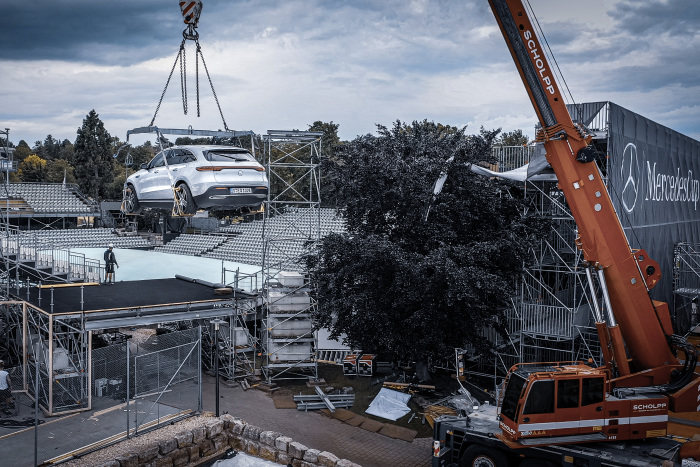 MercedesCup 2019: Aerial display by the EQC at this year's MercedesCup