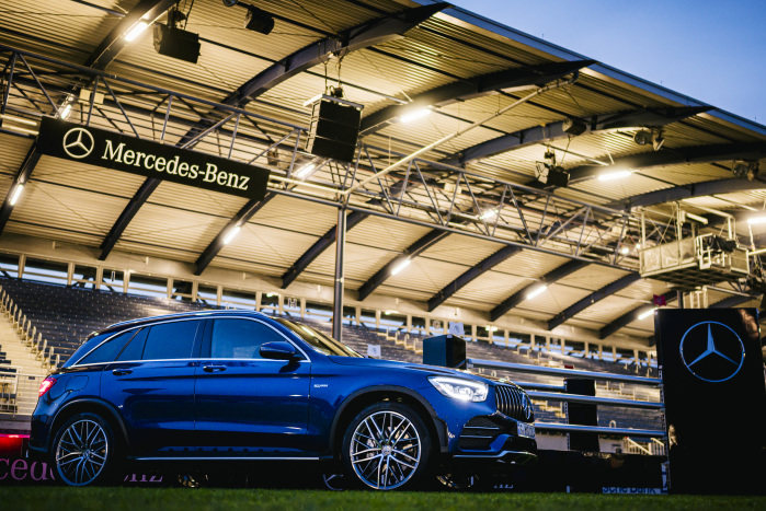 The equestrian stadium and the Mercedes-AMG GLC 43 4MATIC shine at the 2019 CHIO in Aachen