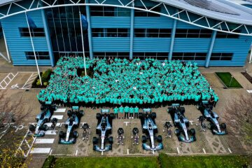 Mercedes-AMG Petronas Motorsport celebrates a record-breaking sixth consecutive Formula One World Championship double - video footage and images now available