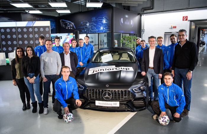 30th Mercedes-Benz JuniorCup dedicated to the promotion of young talent: Press conference in the Future Workshop for Vehicle Technology at the Sindelfingen plant
