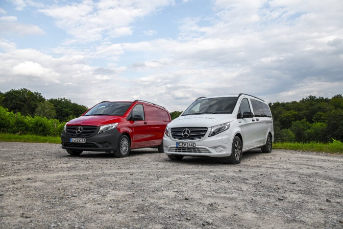 The new Mercedes-Benz Vito with added vehicle dynamics,  the new eVito Tourer with added range
