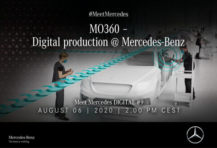 Meet Mercedes DIGITAL #9 – MO360 – Digital production @ Mercedes-Benz: Digital Mercedes-Benz production ecosystem: global production networked in real time