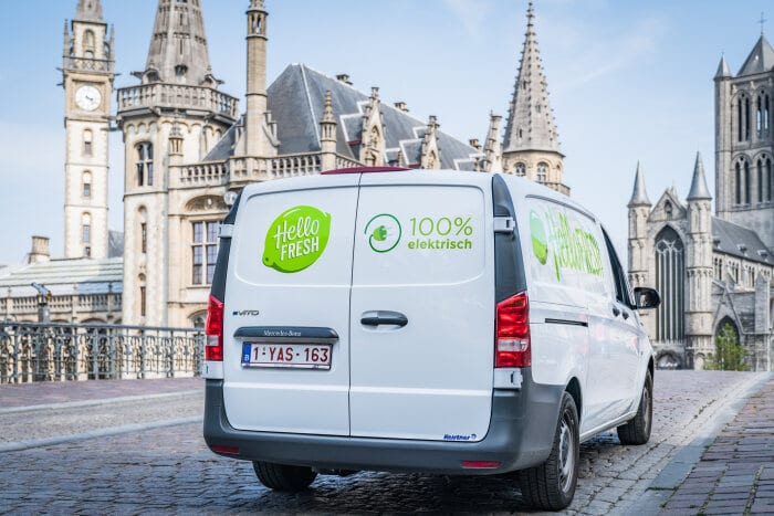 Food box delivery service HelloFresh receives seven refrigerated Mercedes-Benz eVito