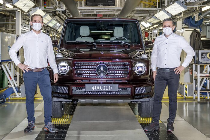 Mercedes-Benz G-Class: Production anniversary: the 400,000th iteration of this classic off-road vehicle has now been built