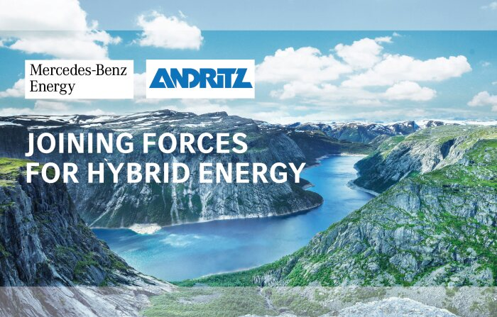 Mercedes-Benz Energy and ANDRITZ sign cooperation agreement to supply stationary energy storage systems for hydropower plants