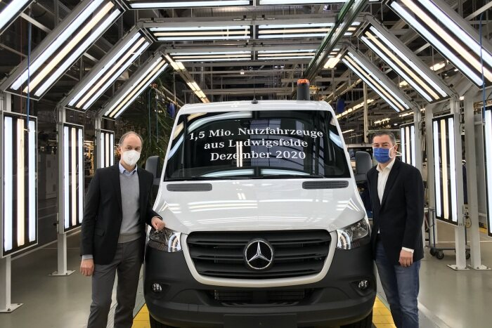 Special occasion at the Ludwigsfelde production facility: 1.5 million commercial vehicles in 55 years
