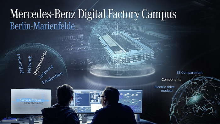 Mercedes-Benz Digital Factory Campus Berlin: Driver for the digital transformation in production