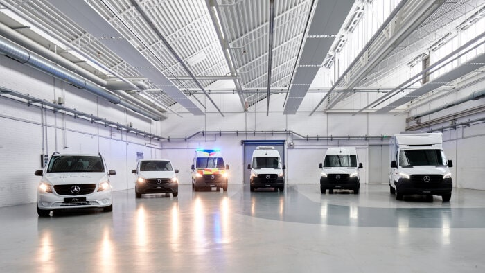 Equal to any challenge: bodybuilder solutions with locally emission-free vans from Mercedes-Benz