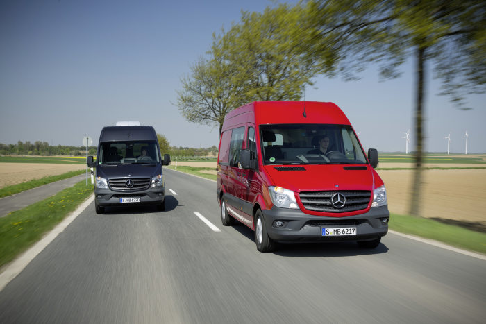 New Mercedes-Benz Sprinter takes the two top slots: The most environmentally friendly and efficient van: Mercedes-Benz Sprinter comes in first and second in the Green Van 2014 ranking