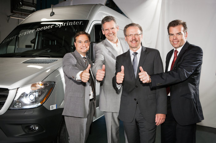 Mercedes-Benz Vans - Start of series production for the best-in-class van: The new Mercedes-Benz Sprinter rolls off the assembly line