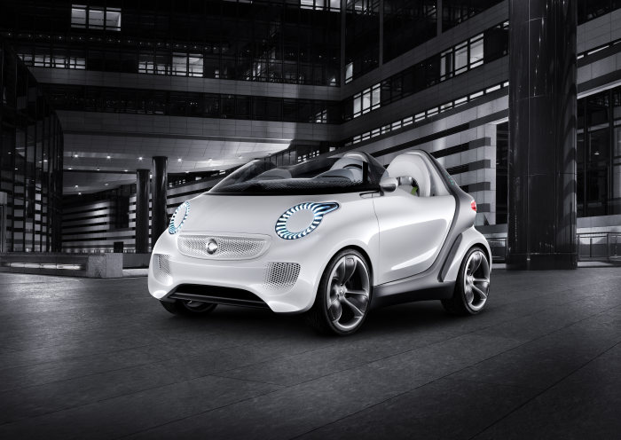 smart at the Geneva Motor Show 2011: proving that electric mobility can be fun: smart forspeed: zero emissions, great fun to drive and a cool design