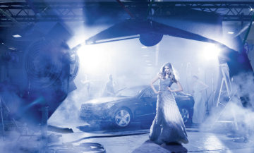 "New key visual for the international fashion activities of Mercedes-Benz: ""Pure attraction"": Peter Lindbergh stages Julia Stegner and the new E-Class Coupé"
