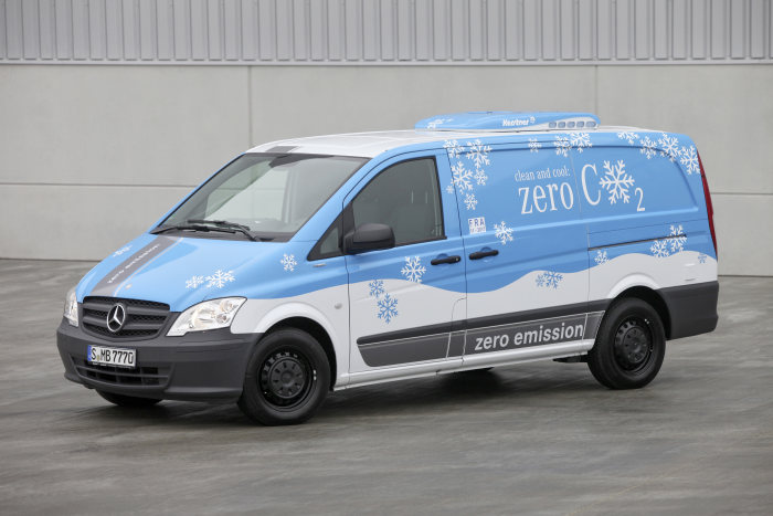 Zero-emission refrigerator van: Kerstner converts the electrically driven Mercedes-Benz Vito E-CELL