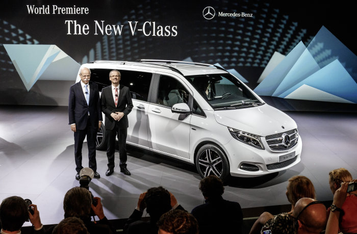 World premiere of the new Mercedes-Benz V-Class