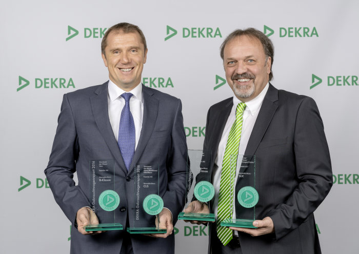 Mercedes-Benz has the most reliable models: Four class wins in the DEKRA Used Car Report