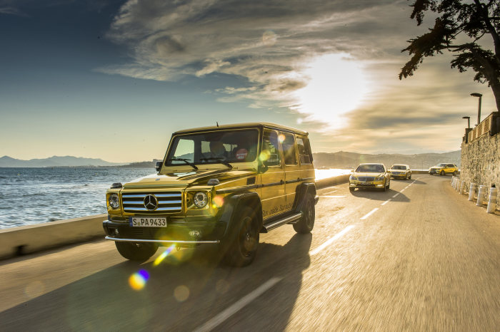 Mercedes-Benz and AMG at the Cannes Film Festival: Golden fleet for the 65th Palme d'Or