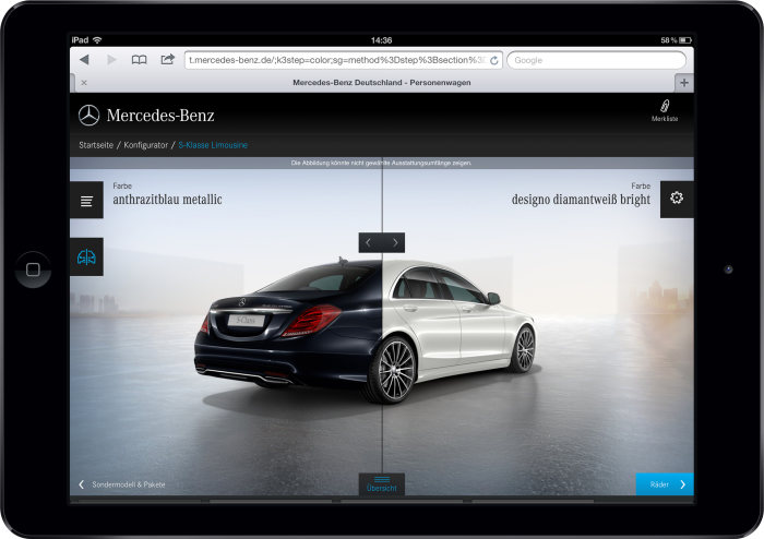 Renowned design award goes to Mercedes-Benz: Tablet configurator receives Red Dot Award