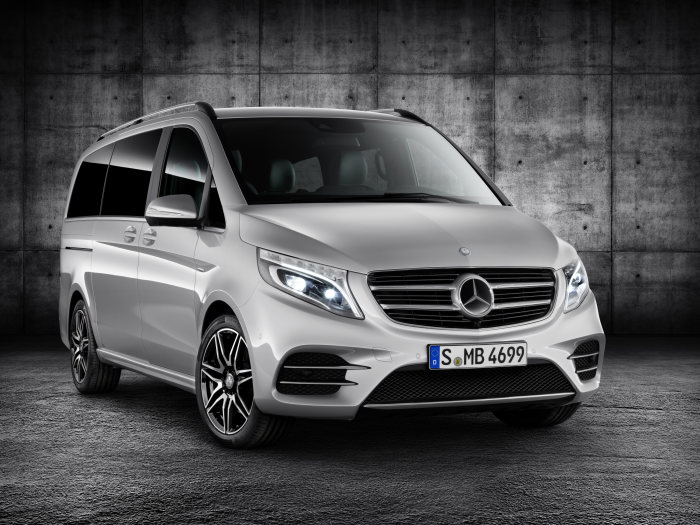 The Mercedes-Benz V-Class portfolio is being extended: The new V-Class AMG Line brings sporty design into the MPV segment