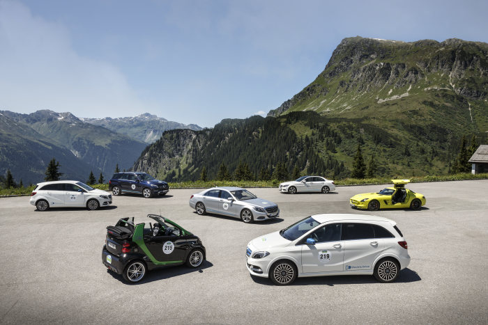 Across the Alps with concentrated efficiency: Mercedes-Benz and smart on e-mission in Montafon