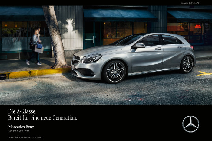 Mercedes-Benz starts campaign to mark launch of the new A-Class: The A-Class. Ready for a new generation.