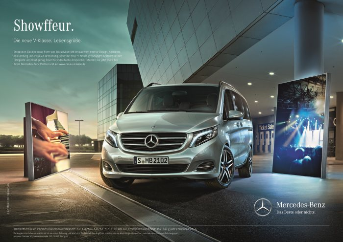 "Fascinating campaign ""Large as Life."" on all channels: Mercedes-Benz starts humorous launch campaign for the new V-Class"
