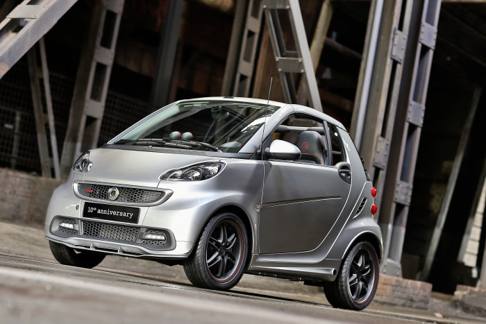 smart and BRABUS celebrate ten years of cooperation with a special edition: 50,000 customised city cars brought to the streets