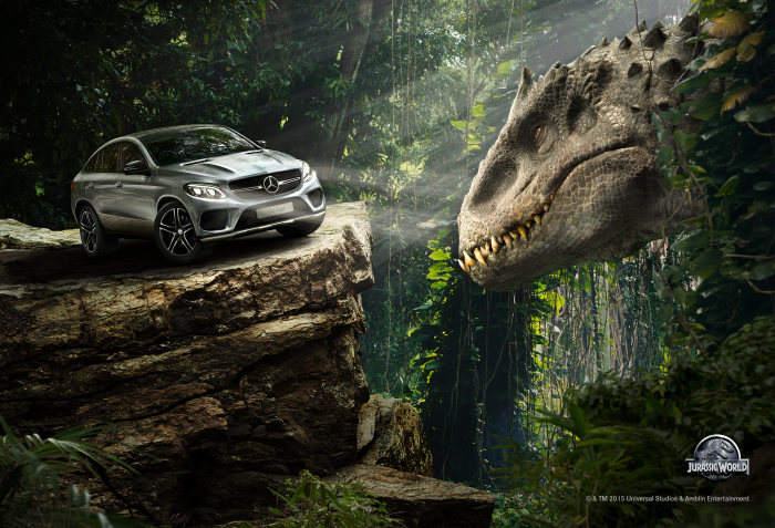 Mercedes-Benz Launches Campaign to Support Universal Pictures and Amblin Entertainment's Jurassic World: The dinosaurs are back