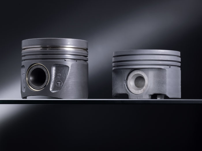 The success story of diesel at Mercedes-Benz continues: High-tech steel pistons for added efficiency