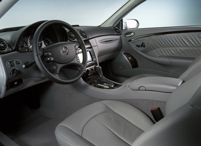 The interior, boasting its new colour and materials concept.