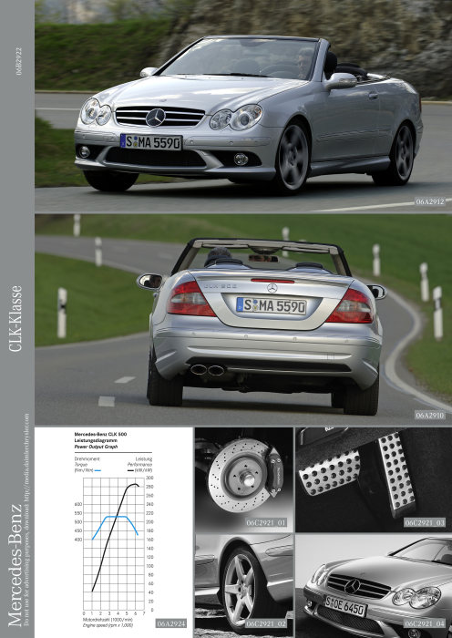 Mercedes-Benz CLK-Class with new V8 engine and attractive equipment package