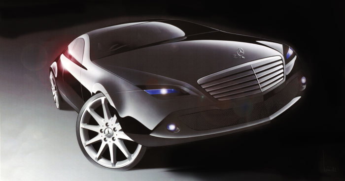 Mercedes-Benz C-Class: From the very first concepts and the digital designs on the Powerwall, the Mercedes designers leave you in no doubt which C-Class traits they set out to give visible form to with their design lines: effortless superiority, sportiness and style.