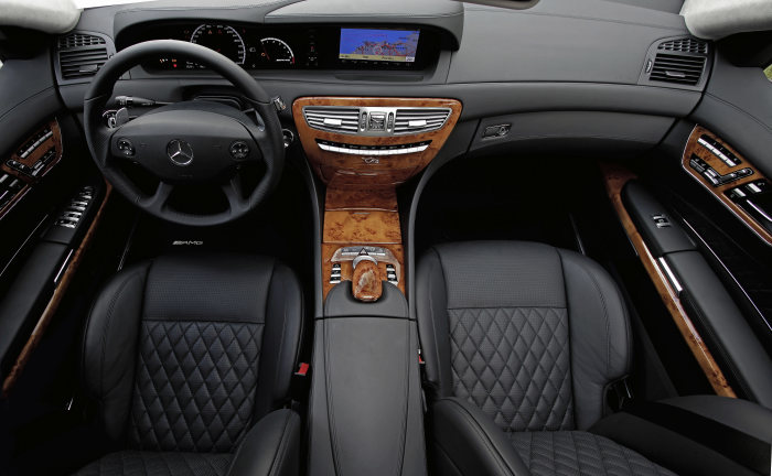 Mercedes Benz CL 65 AMG: The interior of the V12 performance coupe is both dynamic and uses the finest materials.