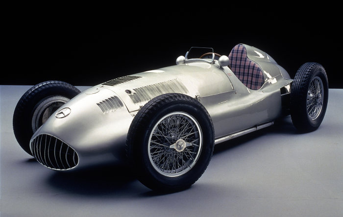 Mercedes-Benz Grand Prix racing car W 165 of 1939, winner car of the Grand Prix of Tripoli on 7 May 1939.