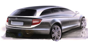 Mercedes-Benz C-Class Estate: Already the first sketches by the designers at Mercedes presented the significantly steeper slope in the combination rear end of the new