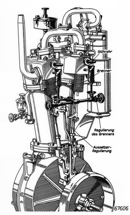 The world's first V2 engine: Daimler's two-cylinder unit made its debut in the wire-wheel car of 1889.