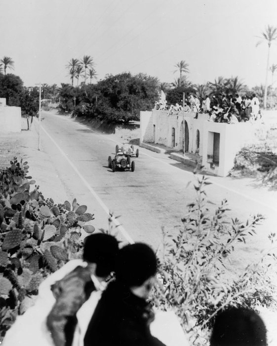 Tripoli Grand Prix, Mallaha, May 9, 1937. The winner Hermann Lang at the wheel of a Mercedes-Benz W 125.