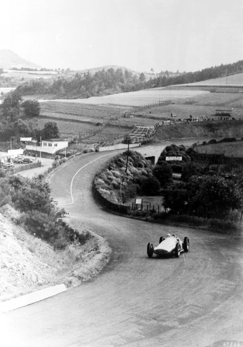 International Eifel race on the Nürburgring, May 21, 1939. Rudolf Caracciola (Start number 12) finished in third place in a Mercedes-Benz racing car  W 154.