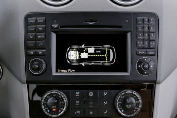 Mercedes-Benz M-Class, ML 450 HYBRID: The different operating modes of the hybrid drive system are automatically shown in the COMAND display of the ML 450 HYBRID.