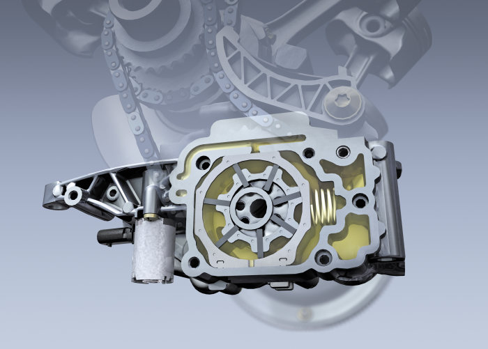 The new V-engine generation from Mercedes-Benz: Continuously variable vane-cell oil pump