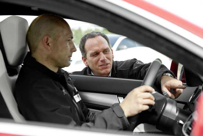 Reinhold Renger, Chief Instruktor Mercedes-AMG Driving Academy and Wolfgang Müller, Chief Instruktor Mercedes-Benz Driving Events
