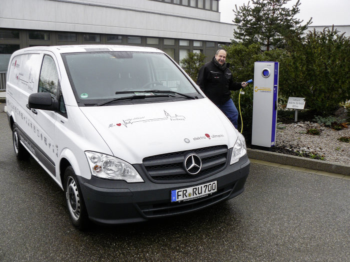 Freiburg-based master electrician Reiner Ullmann is a keen advocate of the Mercedes-Benz Vito E-CELL.