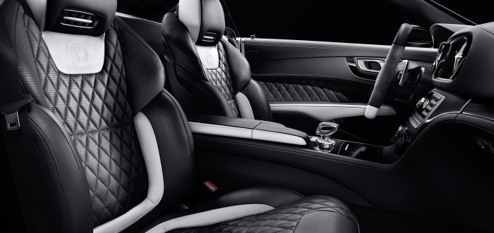 Mercedes-Benz SL AMG 2LOOK Edition, Exclusive nappa leather with contrasting trim in designo platinum white pearl leather