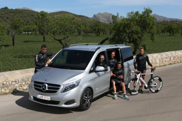 Mercedes-Benz is supporting the German POWER HORSE Triathlon Team with the new V-Class